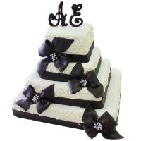 четырехярусный мастичный торт заказать в Санкт-Петербурге