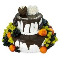 двухярусный кремовый торт заказать в Санкт-Петербурге