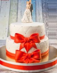 двухярусный мастичный торт заказать в Санкт-Петербурге